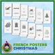 French Christmas Vertical Posters