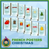 French Christmas Noël Word Wall Posters • Vertical 1/2 page