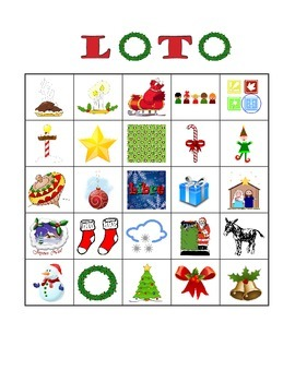 French Christmas Vocabulary Bingo / Loto de Noel