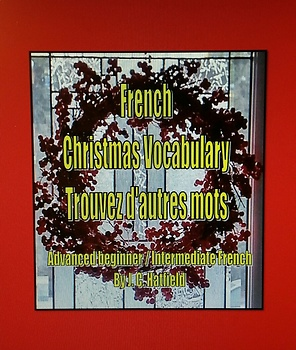French Christmas Vocabulary  Faites d'autres mots