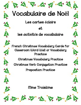 French Christmas Vocabulary Flashcards and Activities- Noël