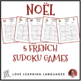 French Christmas Vocabulary - Noël - Sudoku Puzzles