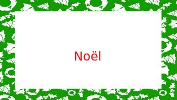 French Christmas Vocabulary / Noel en France