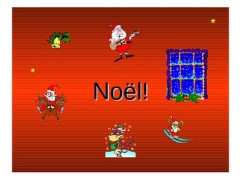 Noël Teaching Resources. French Christmas Vocabulary PowerPoint Presentation