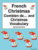 French Christmas Vocabulary and Numbers - Combien de Responses