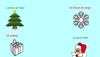 French Christmas Word SMART lesson