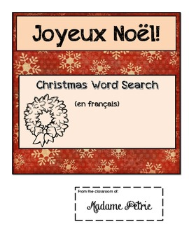 French Christmas Word Search