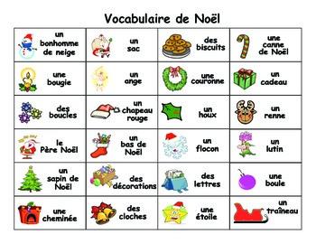 mot de noel French Christmas Word Wall   Mur de mots   Noel by Madame Kenny | TpT mot de noel