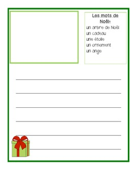 French Christmas Writing, Flashcards & Bang cards