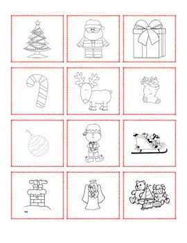 French Christmas Writing, Flashcards & Bang cards