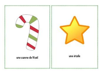 French Christmas Writing, Flashcards & Bang cards2 (Large Flashcards)