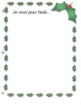 French Christmas Writing Prompts