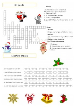 French Christmas activities : fun printables games