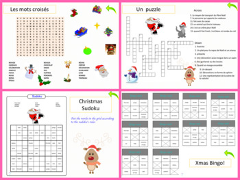 French Christmas activities - games printables and interactive activities