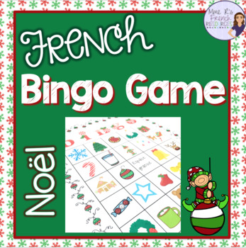 French Christmas bingo