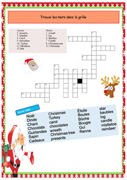 French Christmas, Noël for beginners full lesson PPT and booklet NO PREP