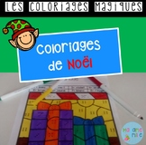 French Christmas color by code / Coloriages magiques {Noël}