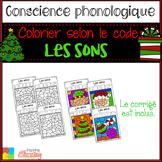 French Christmas color by sounds / Coloriage magique / les