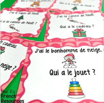 French Christmas game J'AI... QUI A ...? NOËL