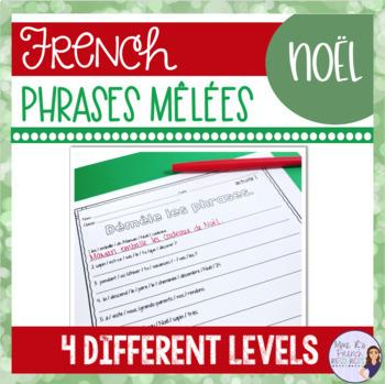 French Christmas sentence scrambles PHRASES MÊLÉES NOËL