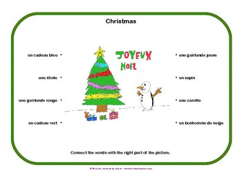 French Christmas vocabulary FREE