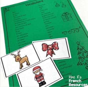 French Christmas vocabulary slap game JEU DE NOËL