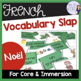 French Christmas vocabulary slap game JEU DE NOËL