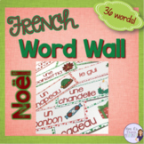 French Christmas word wall/ Mur de mots - Noël