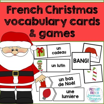 French Christmas word wall words and games - graphic images