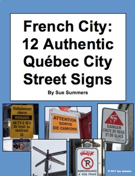 French City 12 Authentic Québec City Street and Parking Signs