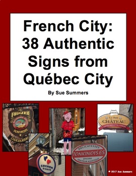 French City 38 Authentic Signs from Québec City
