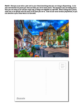 French City Exploration and Use of Location Prepositions: Kaysersberg, France