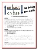 French City Locations Partner Activities (Speak, Read, Listen, Write)
