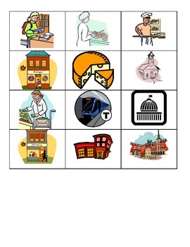 French City Places Vocabulary Game