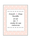 French * Class Bundle ~ $7.00 for 7 ready-to-use resources