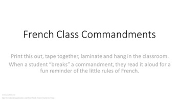 French Class Commandments: Fun French Classroom Poster