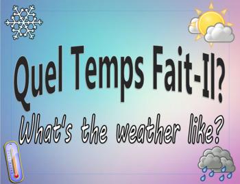 French Class Daily Activity - Quel temps fait-il?