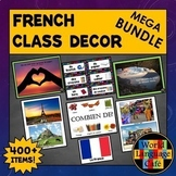 French Classroom Decor Bundle, Class Decorations, Object Labels, Signs