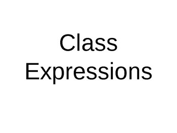French Class Expressions