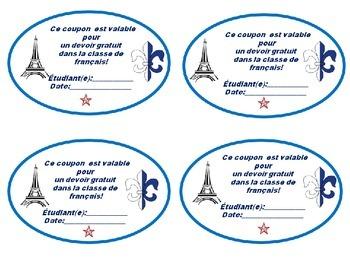French: Free Homework Passes