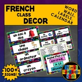 French Classroom Decor, French Classroom Labels, Word Wall, French Calendar