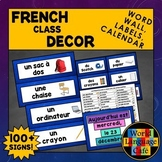 French Classroom Labels, French Classroom Decor, French Calendar, Word Wall