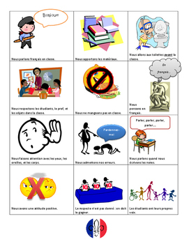 French Class Rules Poster