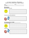French Class Self Evaluation Tool