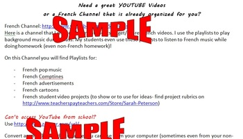 French Class YouTube Channel***