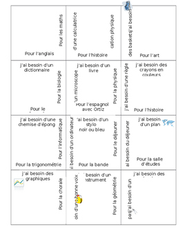 French Classes and Materials 3x4 Puzzle