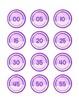French Classroom Clock Labels - Purple Geometric