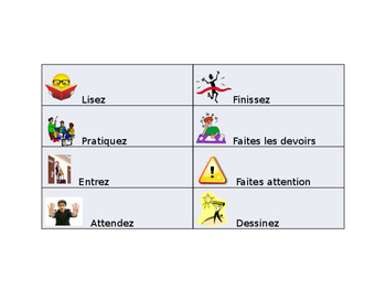 French Classroom Command Guided Notes
