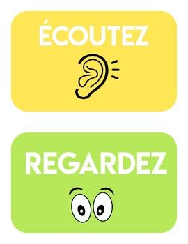 French Classroom Commands - Les Consignes - Les Mots Magiques