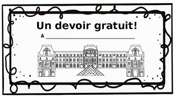 French Classroom Coupons- Bundle of 3
